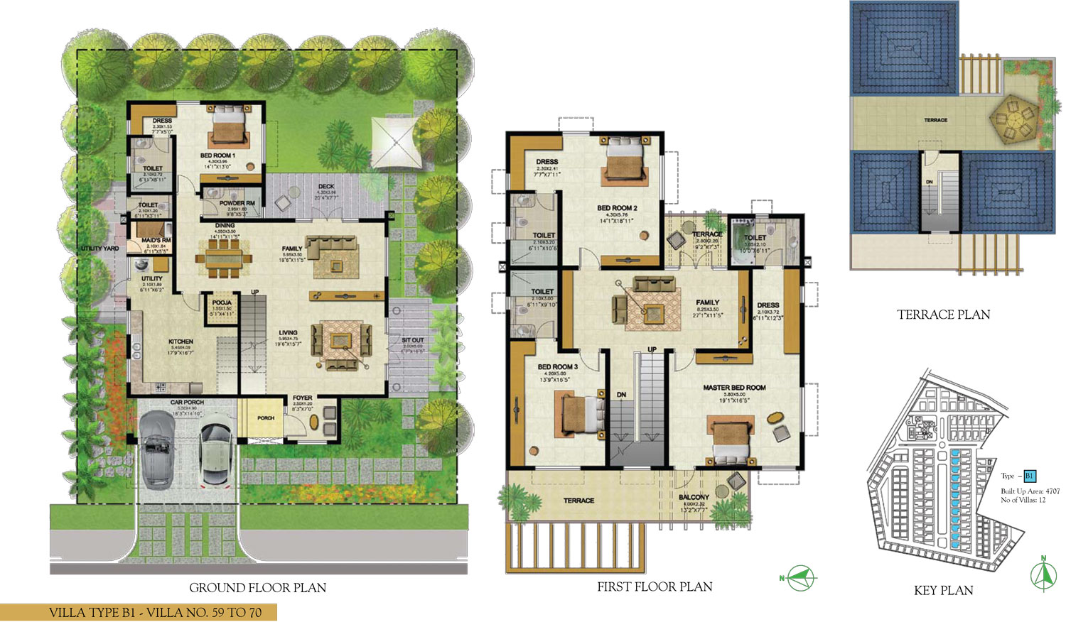 Type B1 - 4 Bed - 4707 Sq Ft