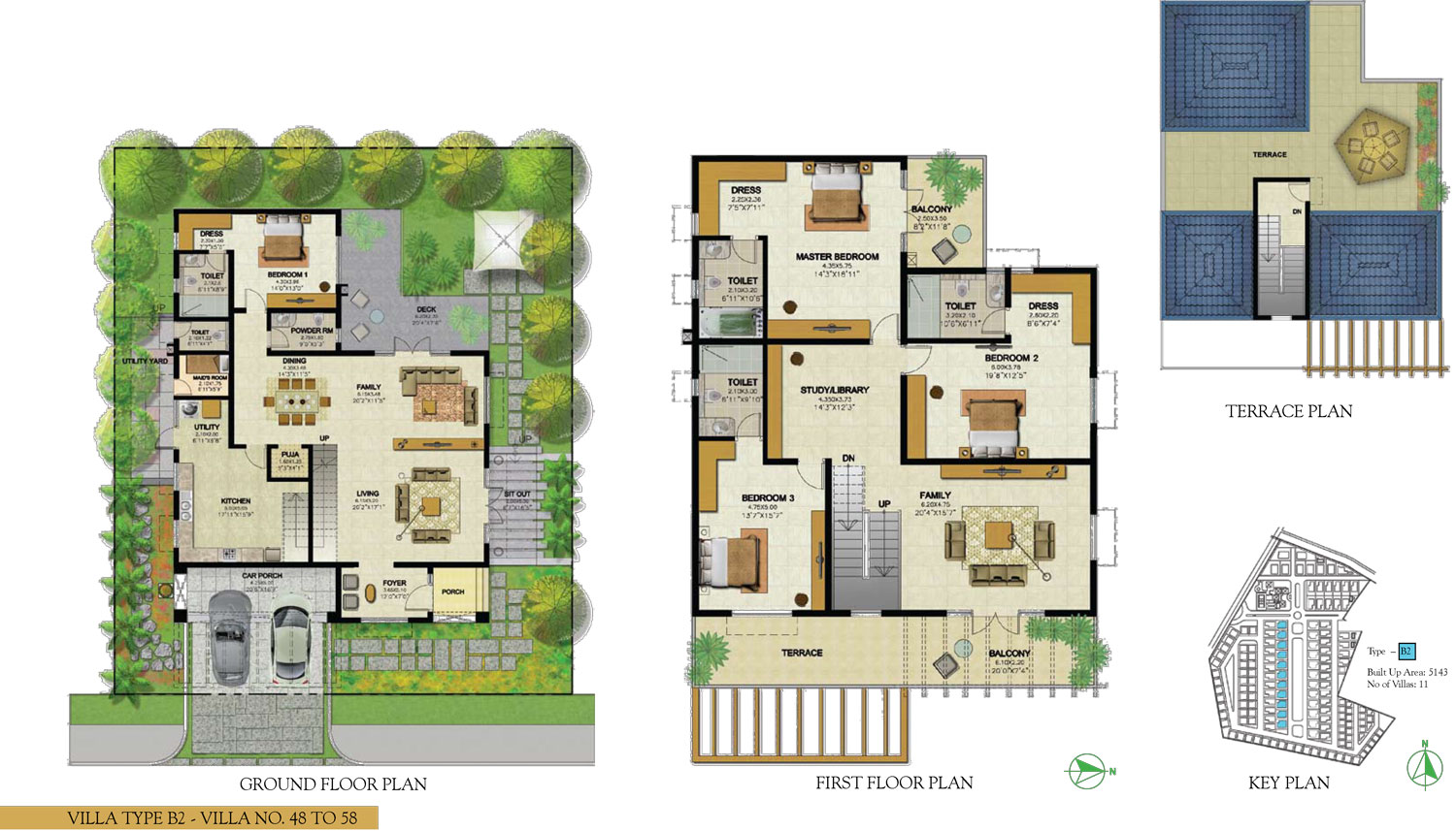 Type B2 - 4 Bed - 5143 Sq Ft