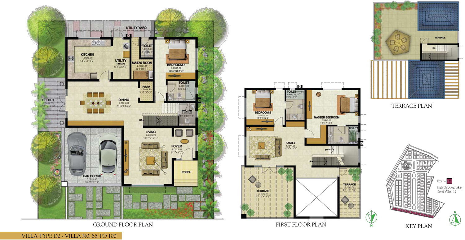 Type D2 - 3 Bed - 3834 Sq Ft