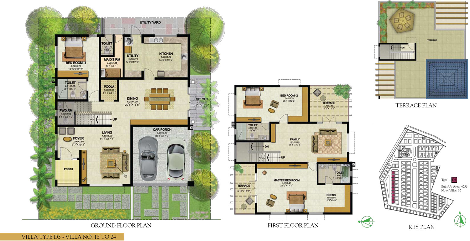 Type D3 - 3 Bed - 4036 Sq Ft