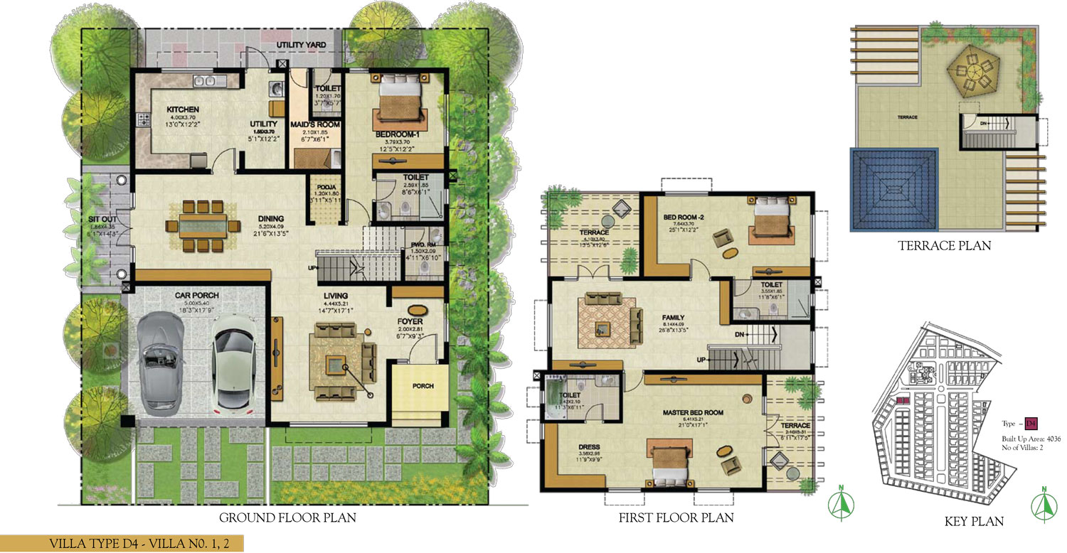 Type D4 - 3 Bed - 4036 Sq Ft