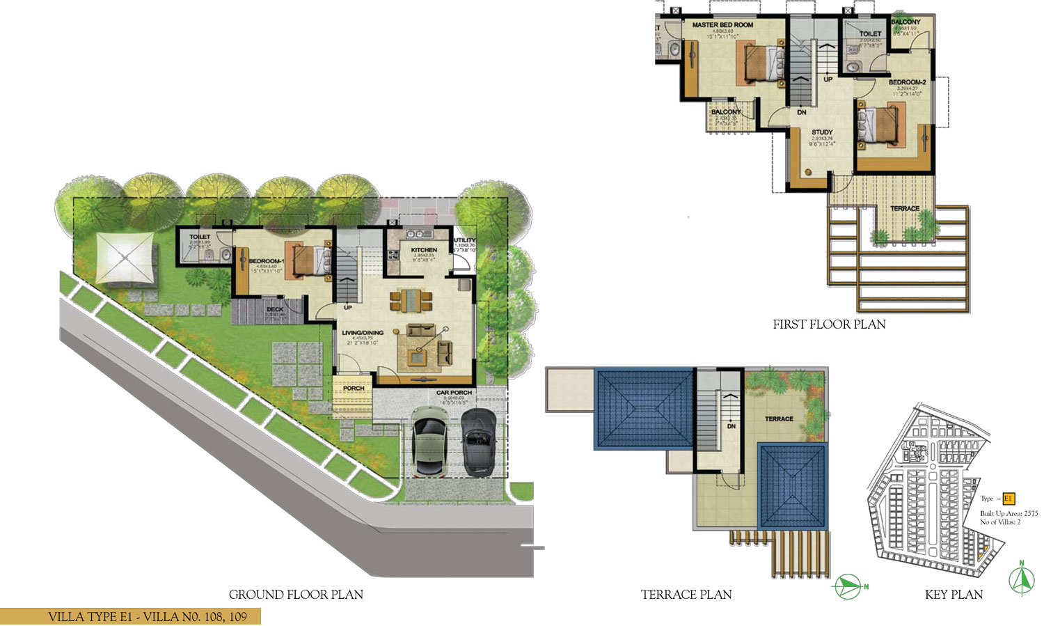 Type E1 - 3 Bed - 2575 Sq Ft