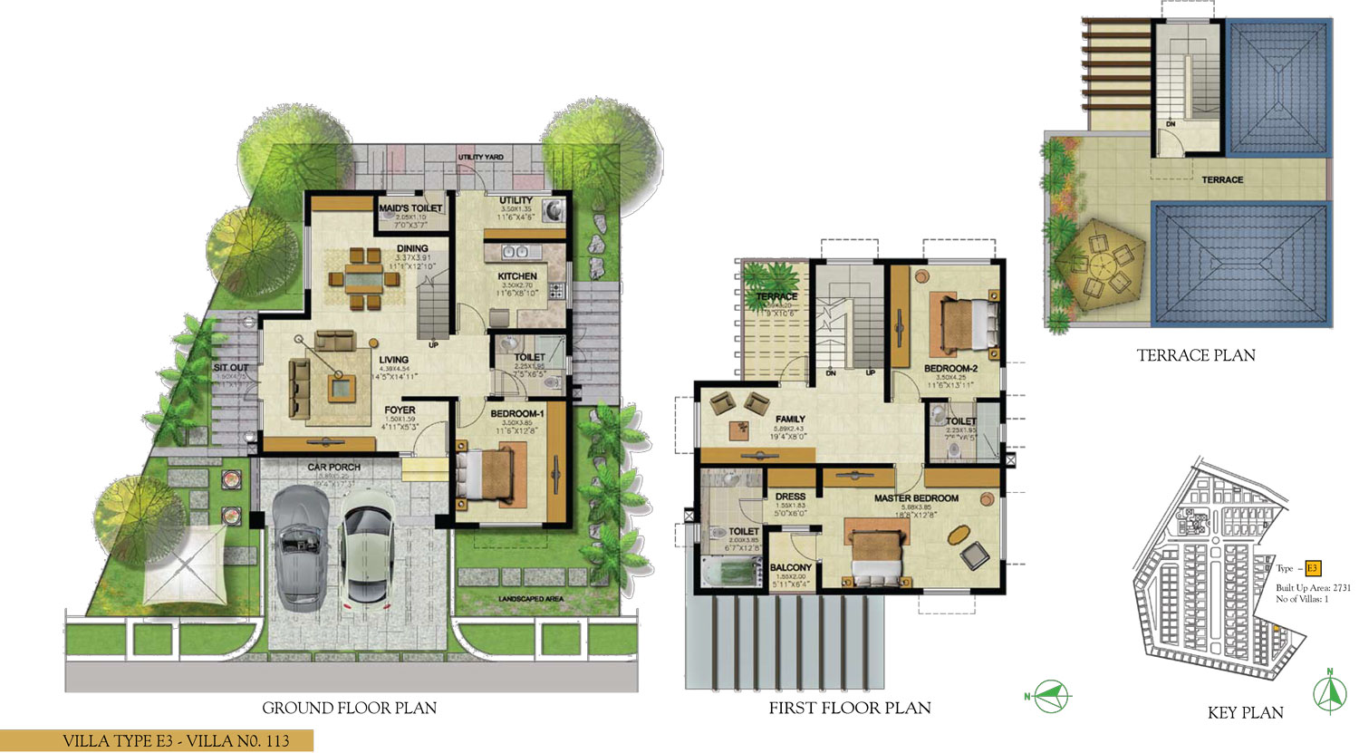 Type E3 - 3 Bed - 2731 Sq Ft