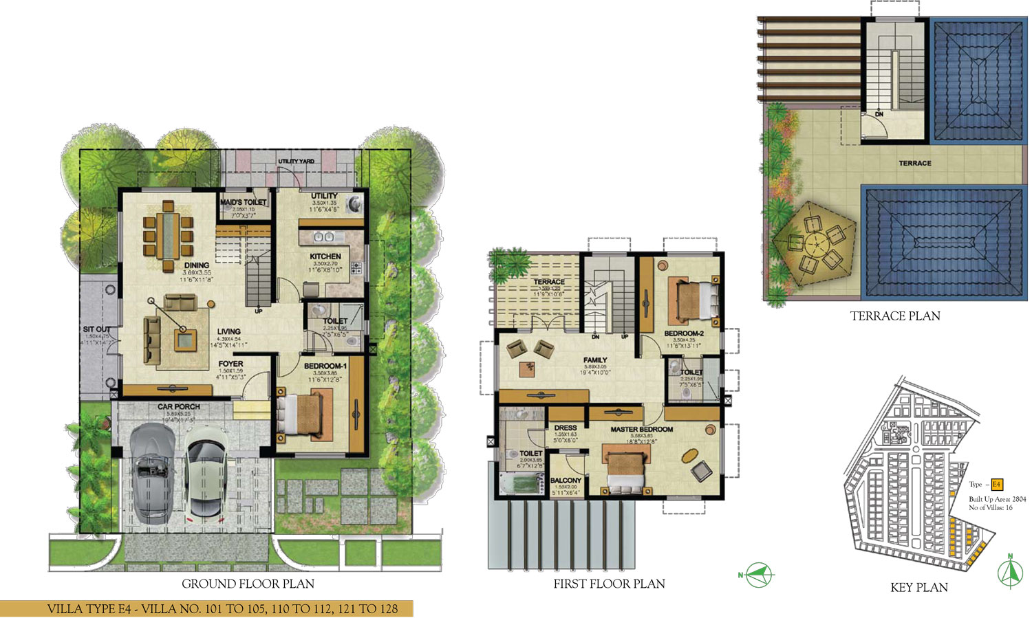 Type E4- 3 Bed - 2804 Sq Ft