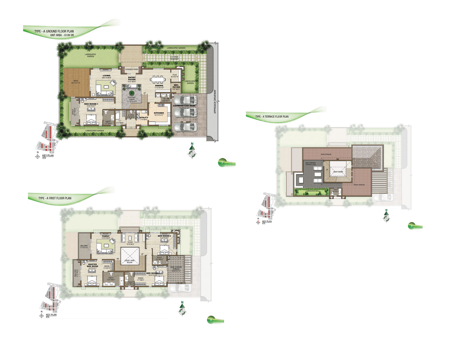 Type A - 4 Bed - 6108 Sq Ft