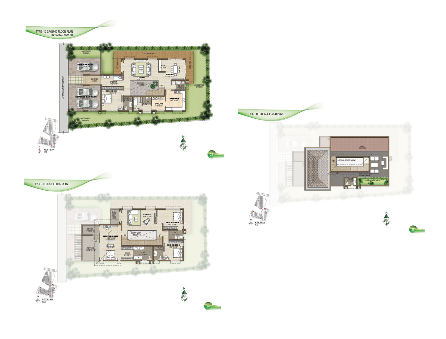 Type D - 4 Bed - 5575 Sq Ft