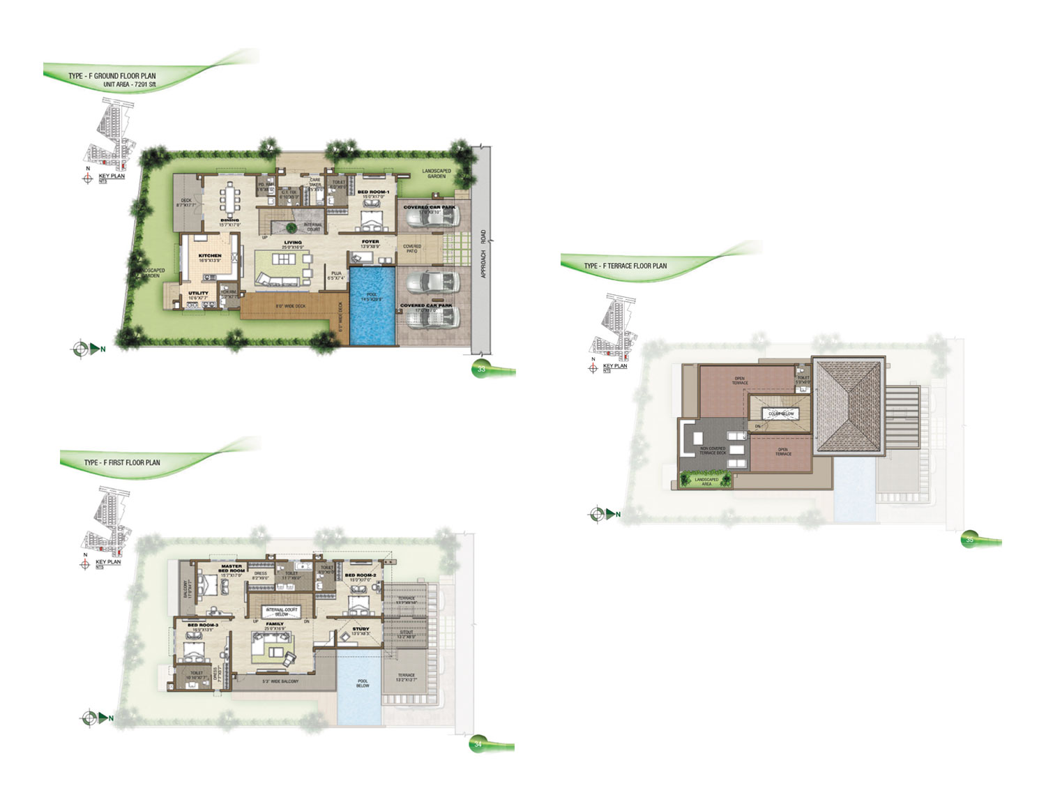 Type F - 4 Bed - 7291 Sq Ft