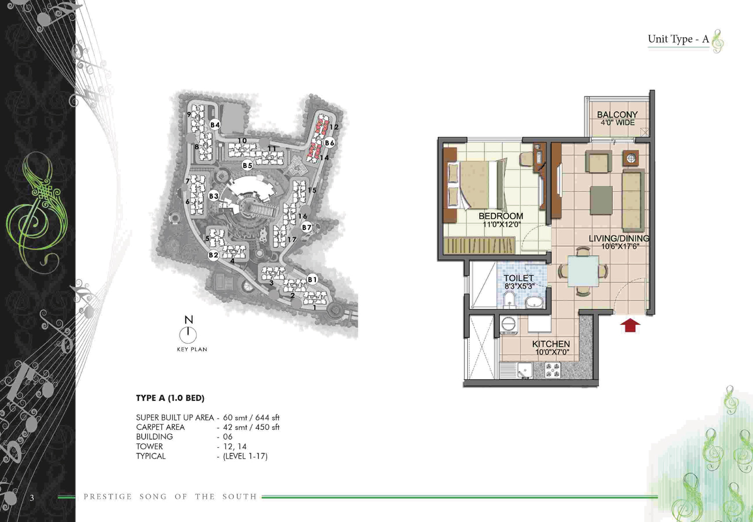 Type A1 - 644 Sq Ft