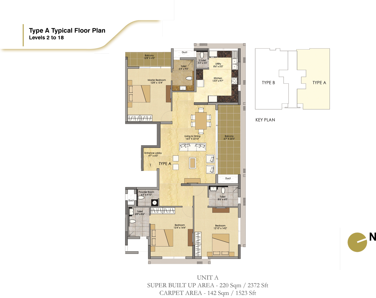 Type A - 2372 Sq Ft
