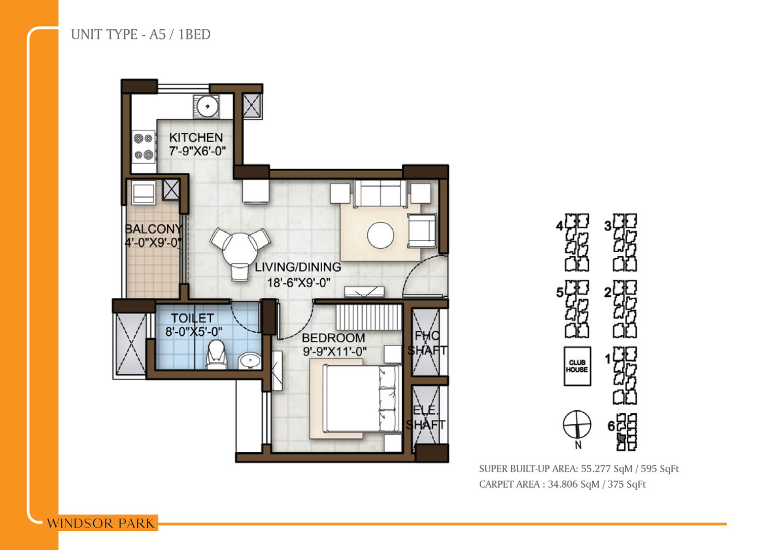 Type A5 - 595 Sq Ft