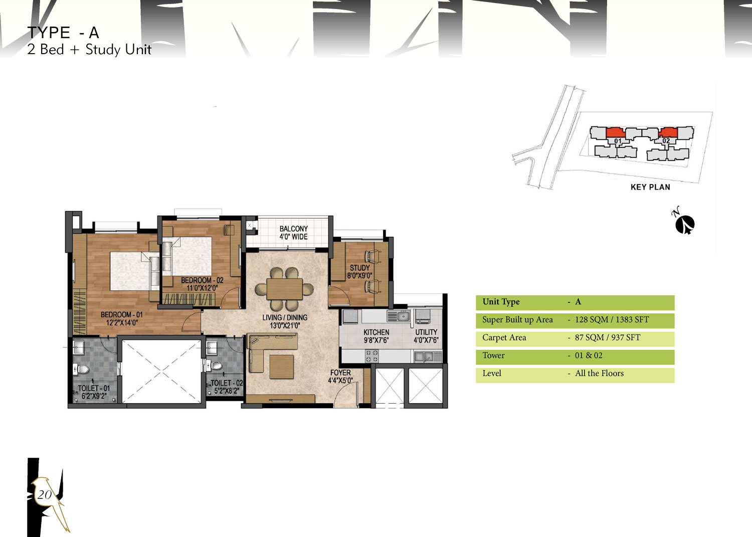 Type A - 1383 Sq Ft