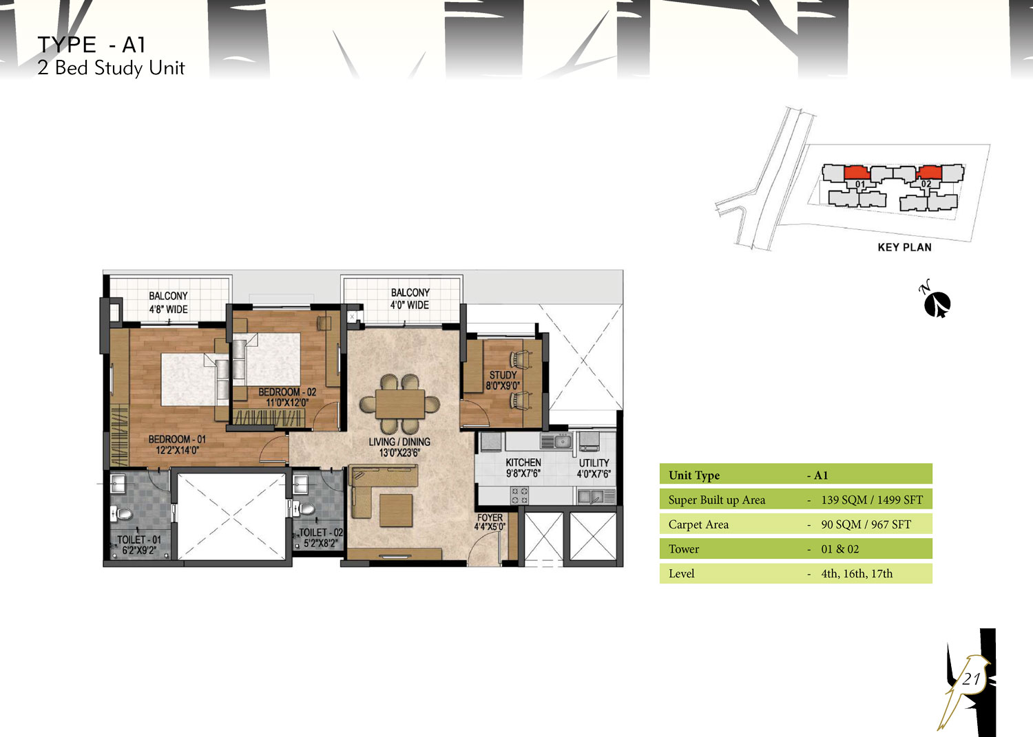 Type A1 - 1499 Sq Ft