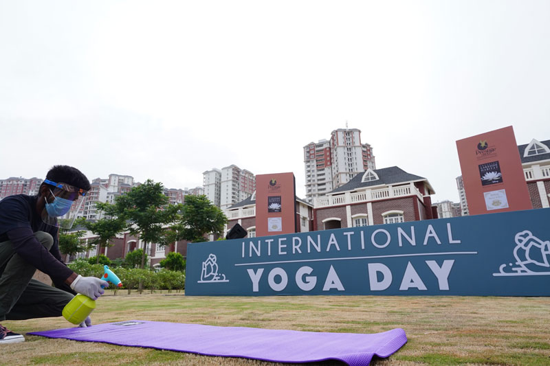 Yoga Day in PLH 06