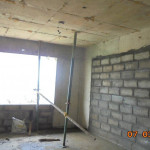 TOWER 1 200MM THICK BLOCK WORK UNDER PROGRESS AT 5TH FLOOR 3BHK UNIT