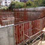 TOWER-1 RETAINING WALL SHUTTERING WORKS