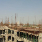 TOWER 1 SEVENTH FLOOR SLAB SHUTTERING REINFORCEMENT WORKS UNDER PROGRESS(POUR 3)