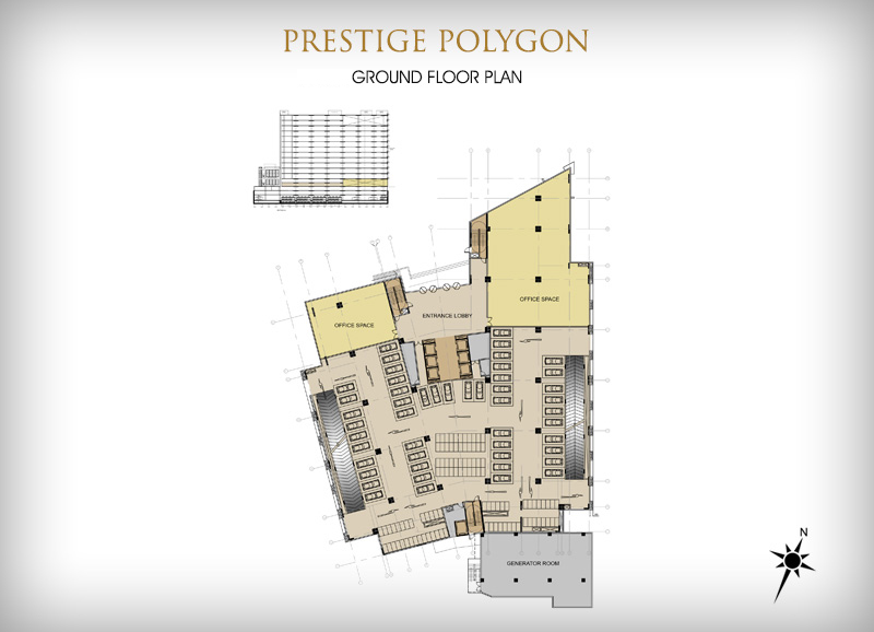 Prestige Polygon Commercial Office Space Located In